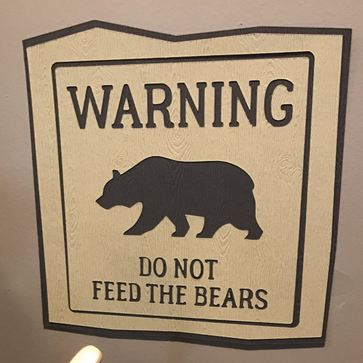Warning do not feed the bears sign | by Posted Fete