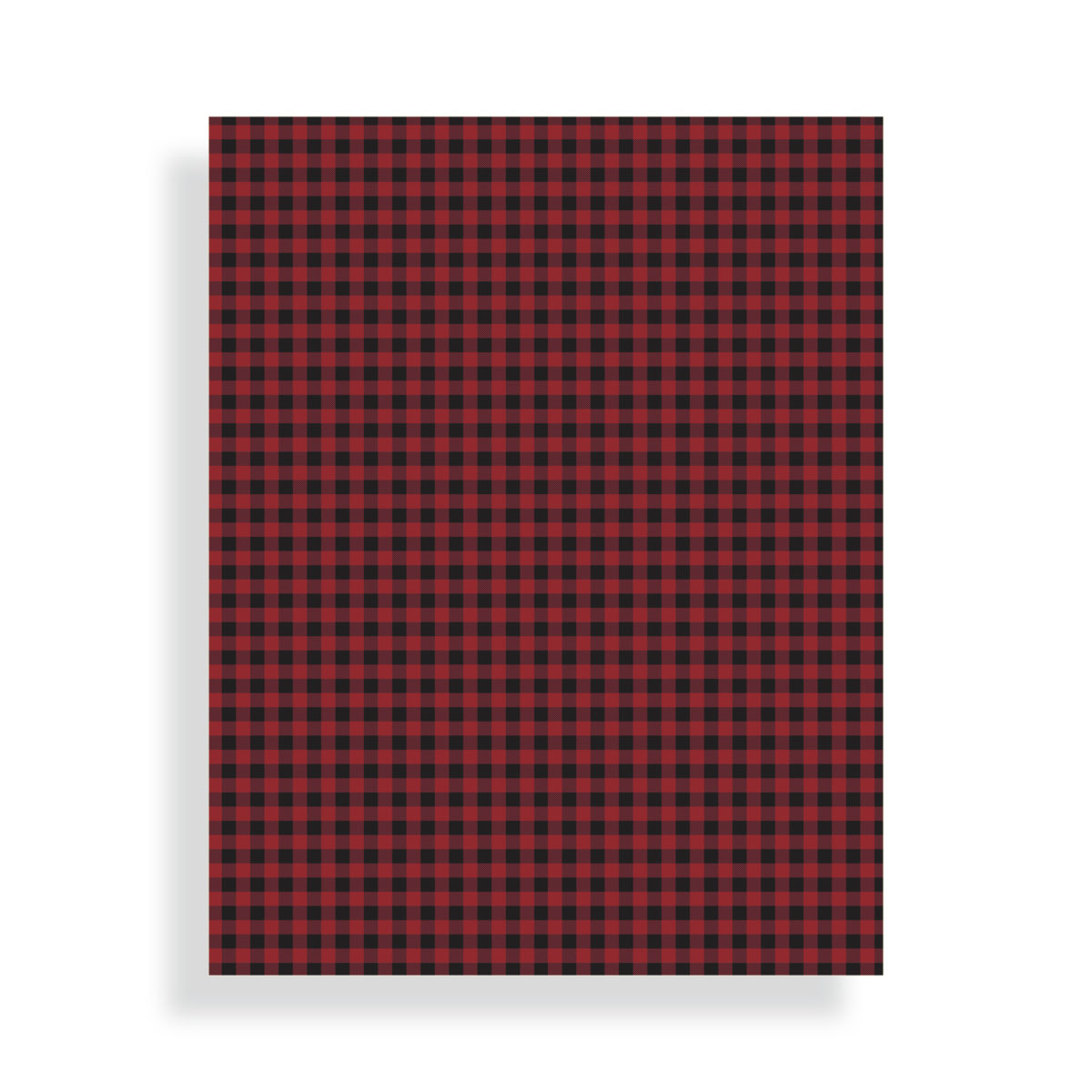 Buffalo Plaid Card Stock | by Posted Fete
