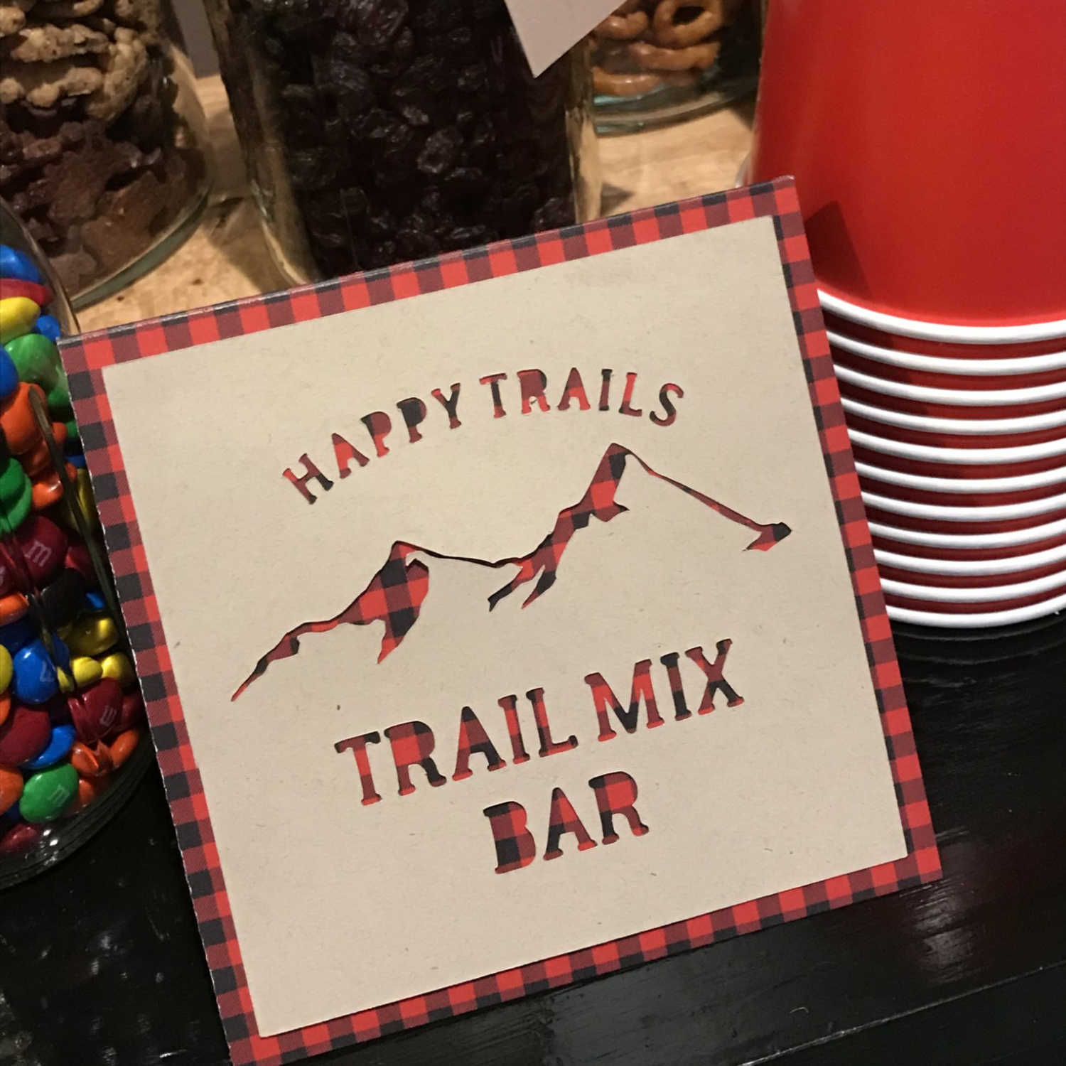 Happy Trails to You Trail Mix Bar Sign | Posted Fete