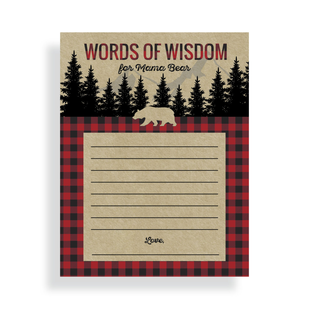 Lumberjack Words of Wisdom Cards | by Posted Fete