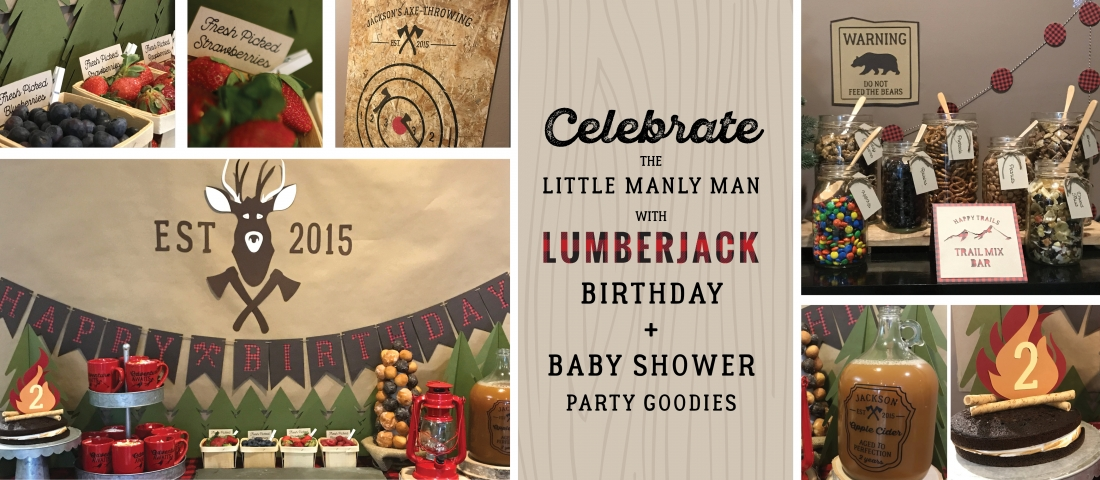 Lumberjack Party Theme Birthday and Baby Shower