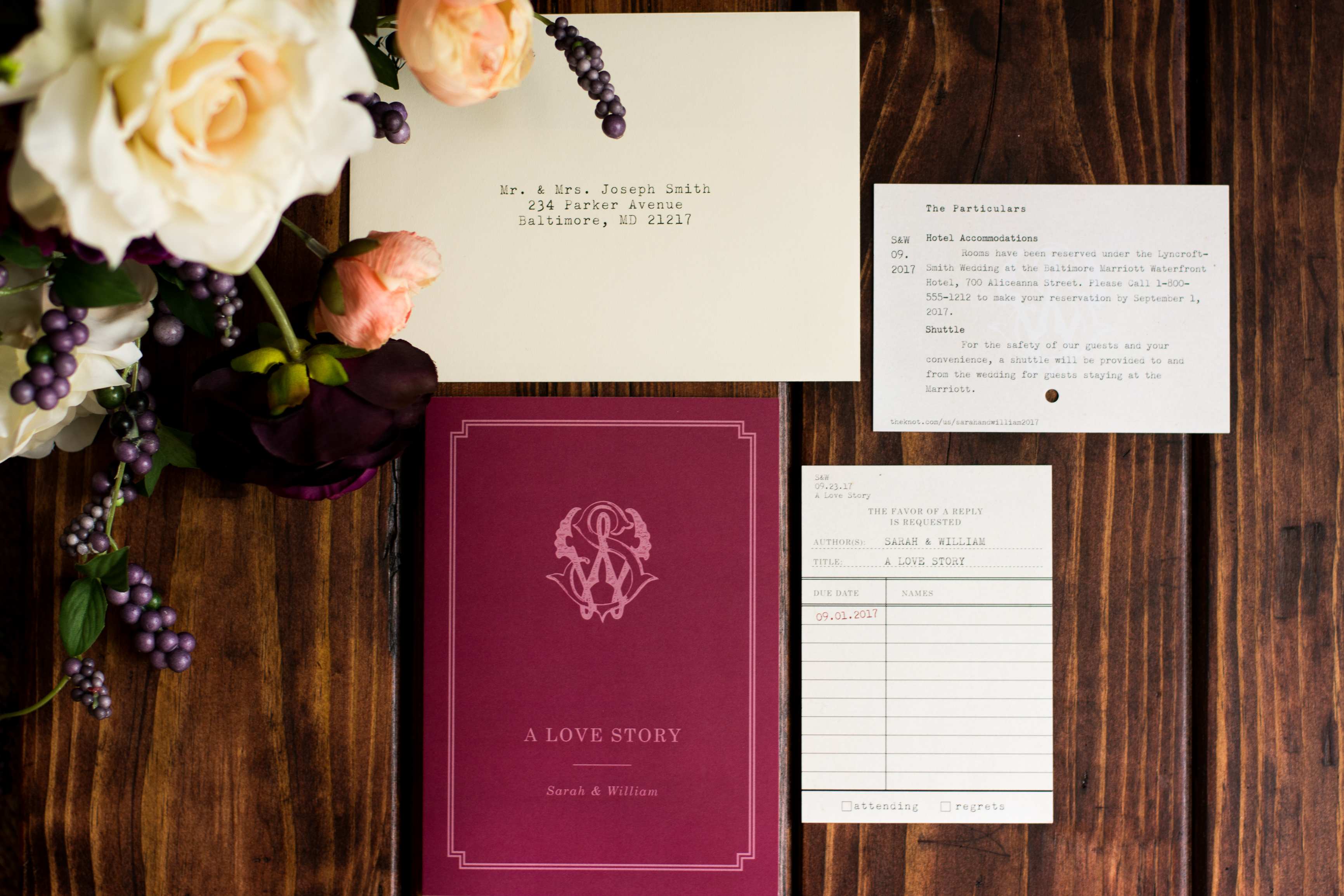 Literary Storybook Wedding Invitation | Posted Fete