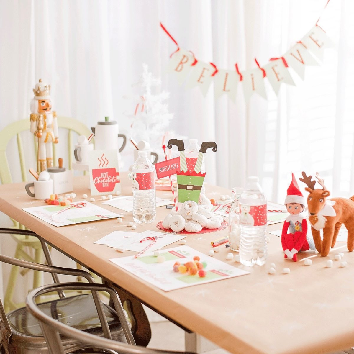 North Pole Breakfast for Elf Arrival Day | Party Package by Posted Fete | #Elf #ElfBreakfast #NorthPoleBreakfast