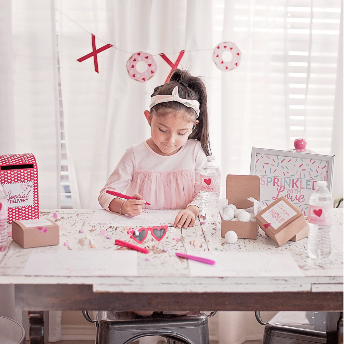 XOXO Valentine's Day Breakfast Donut Party | Family Friendly by Posted Fete