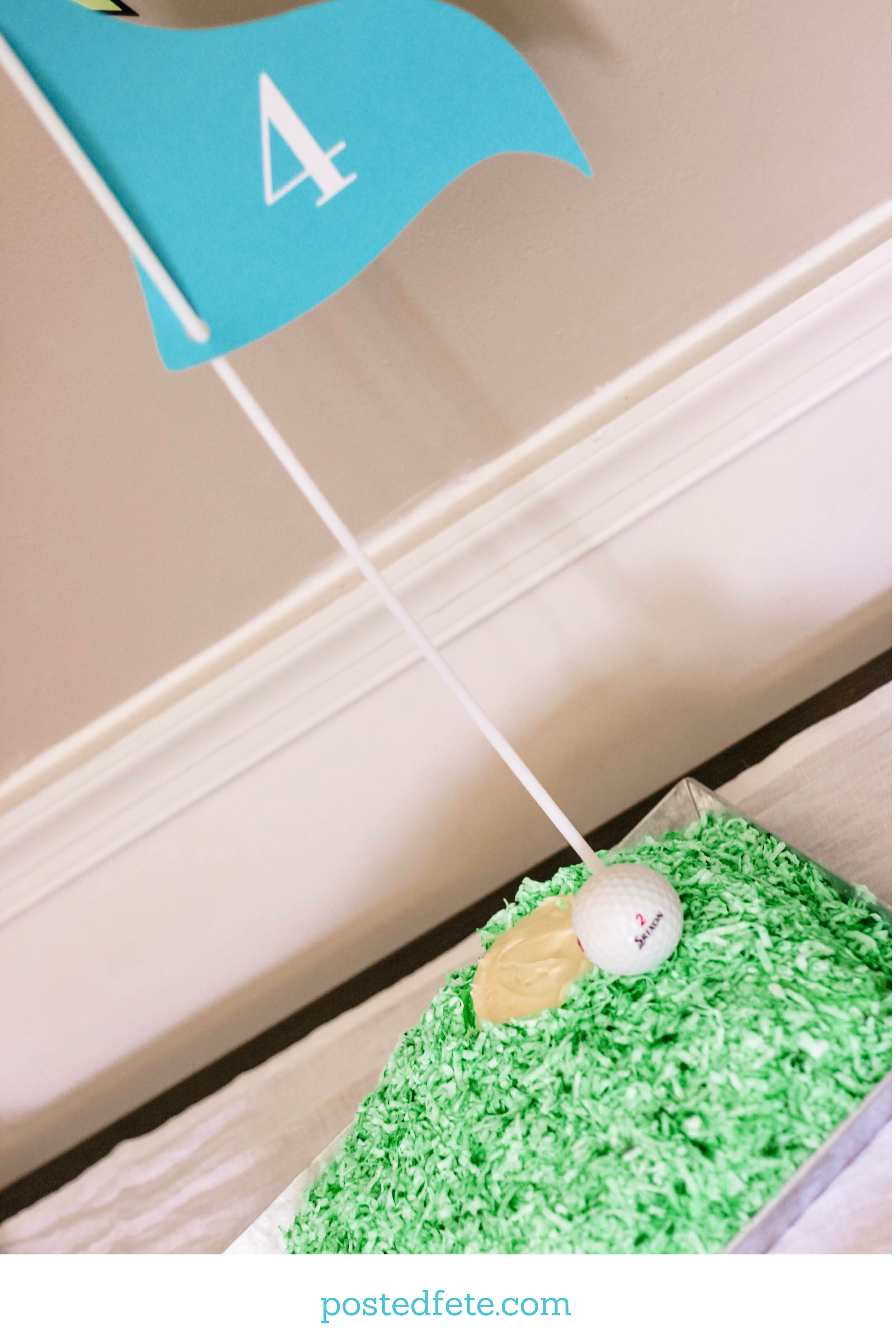 Easy DIY Golf Theme Birthday Cake for Kids Hole in One or Fore birthday!