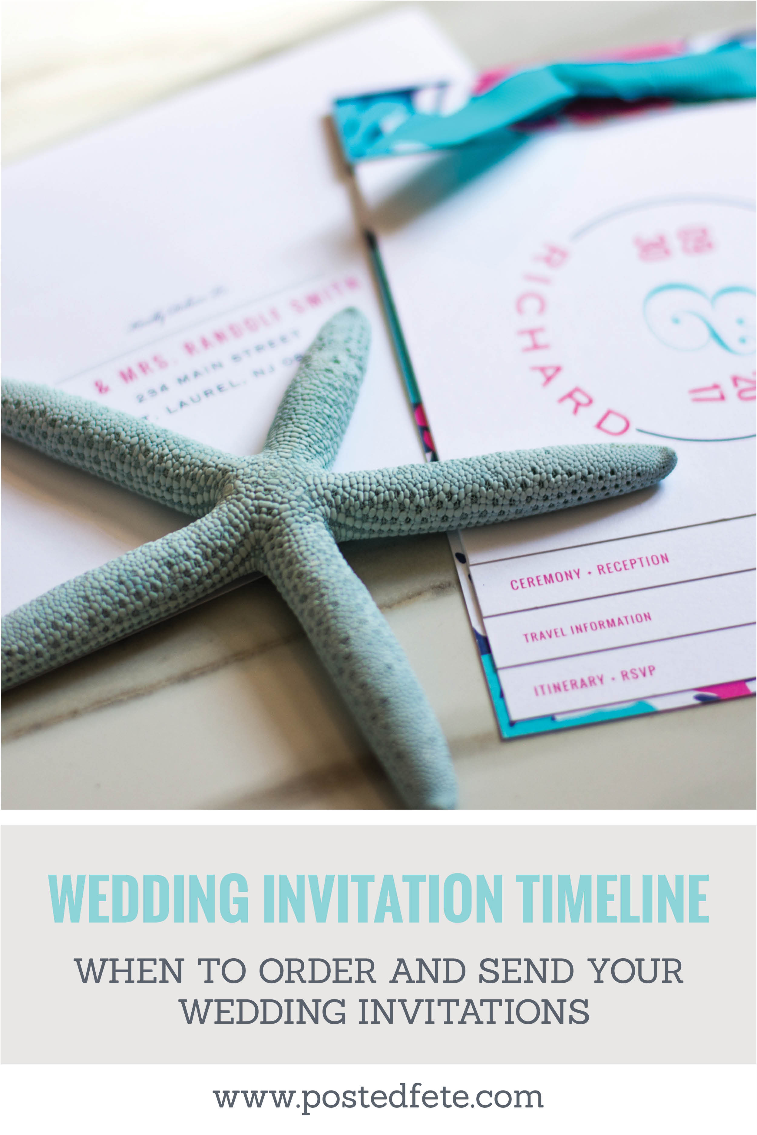 When to order wedding invitations and when to save wedding invitations for local and destination weddings #weddingplanning