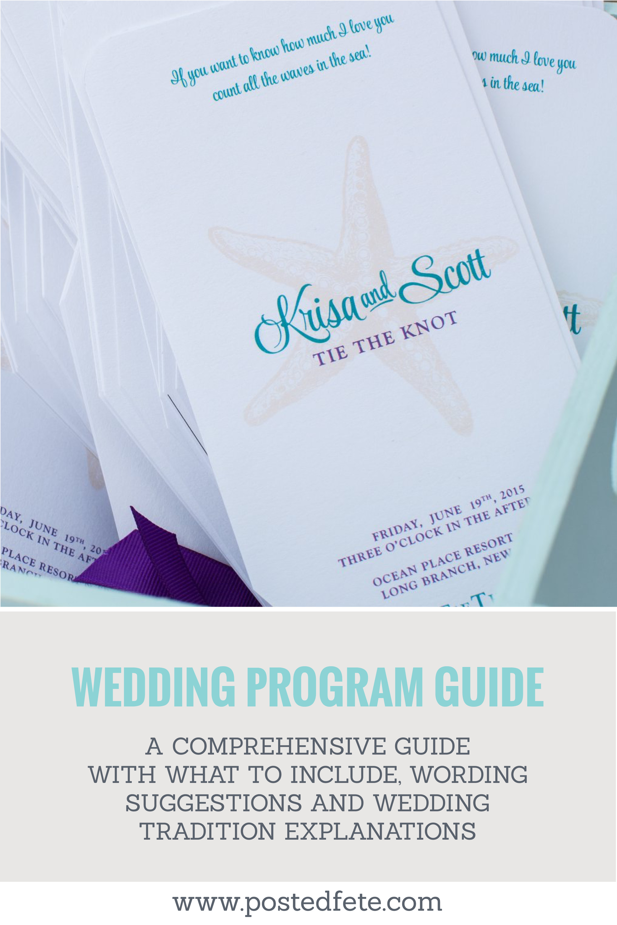 A Guide to Wedding Programs | Posted Fete